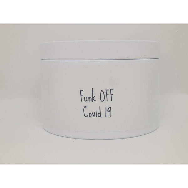 Travel Tin Candle Fuck Off Covid 19 - Coastalfunk