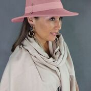 Panama Felt Hat Dusty Pink