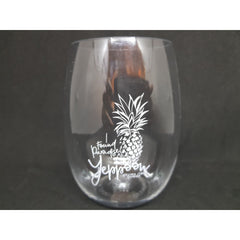 Stemless unbreakable drinkware Yeppoon Pineapple wine - Coastalfunk