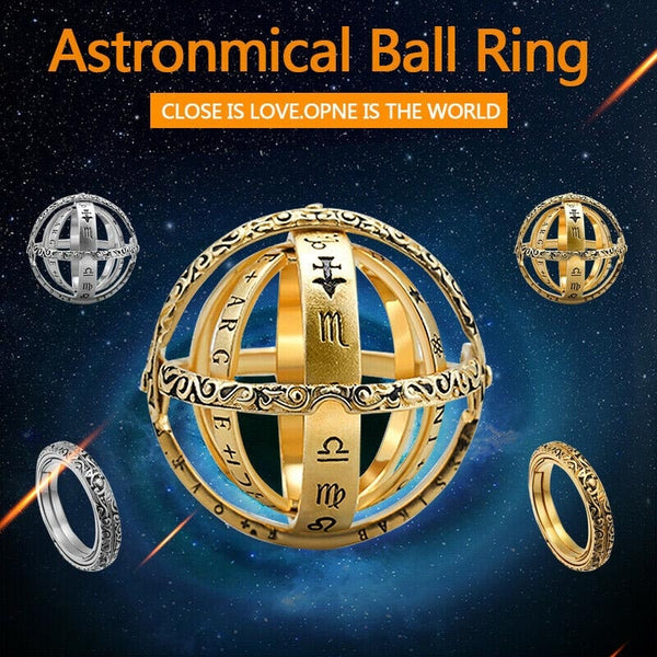 Handmade Astronomical Sphere Ball Rings