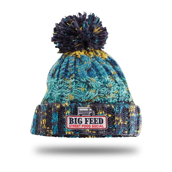 The Big Feed Chunky Knit Beanie - Marine Splash