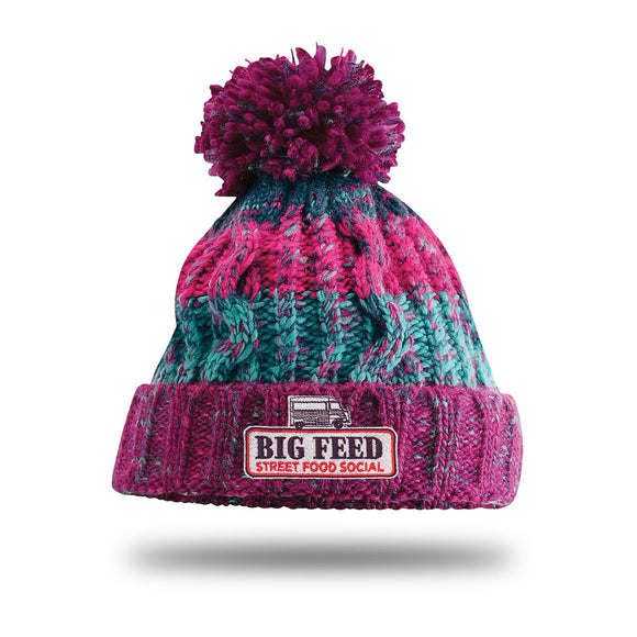 The Big Feed Chunky Knit Beanie - Winter Berries
