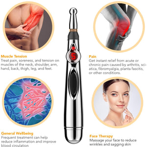 Electric Acupuncture Point Massage Pen Usage image