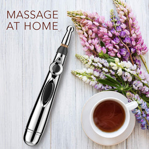 Massage At Home with Electric Acupuncture Point Massage Pen For Pain Relief