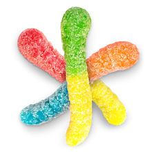 Load image into Gallery viewer, Mini Sour Neon Gummi Worms