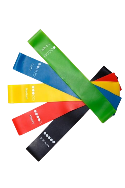 Set-of-5 Workout Resistance Bands 0.35mm-1.1mm