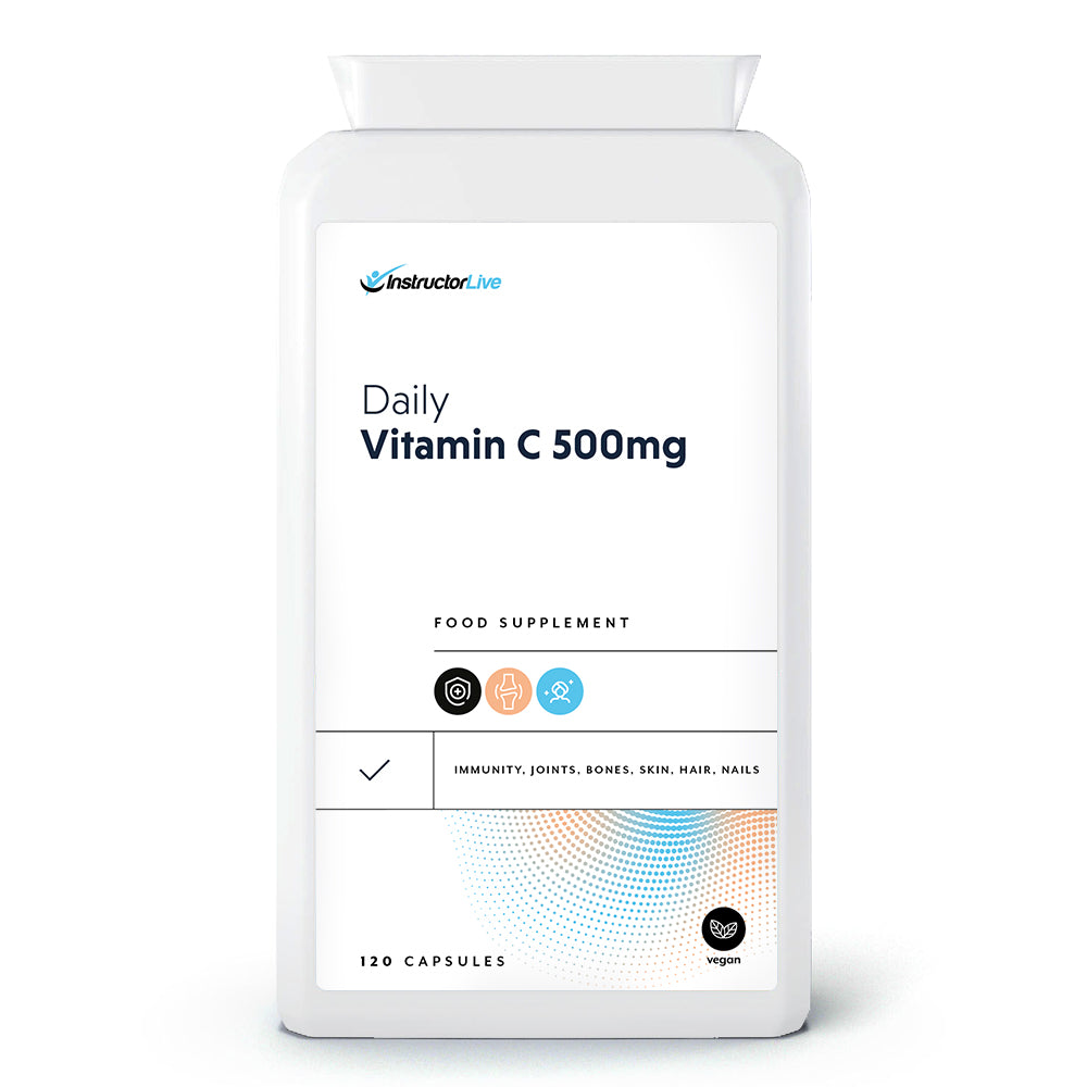 Daily Vitamin C 500mg Food Supplement - 120 Capsules