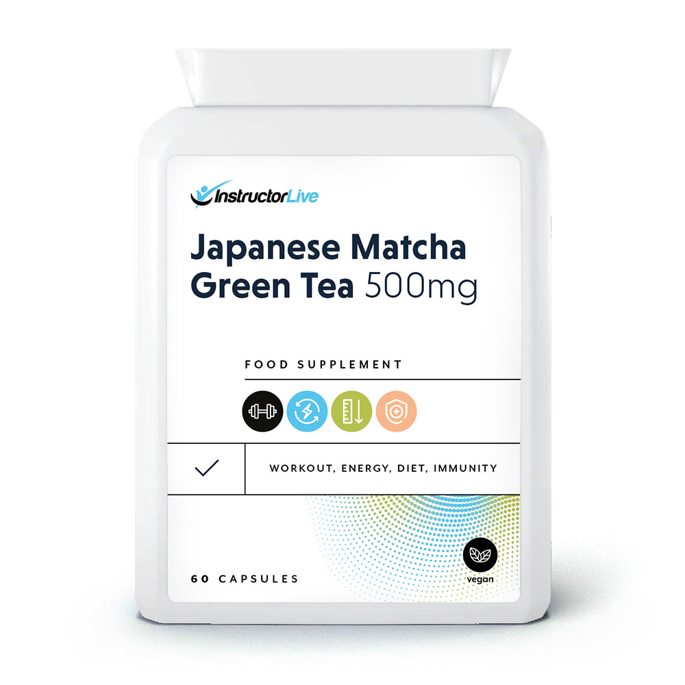 Japanese Matcha Green Tea 500mg Food Supplement - 60 Capsules