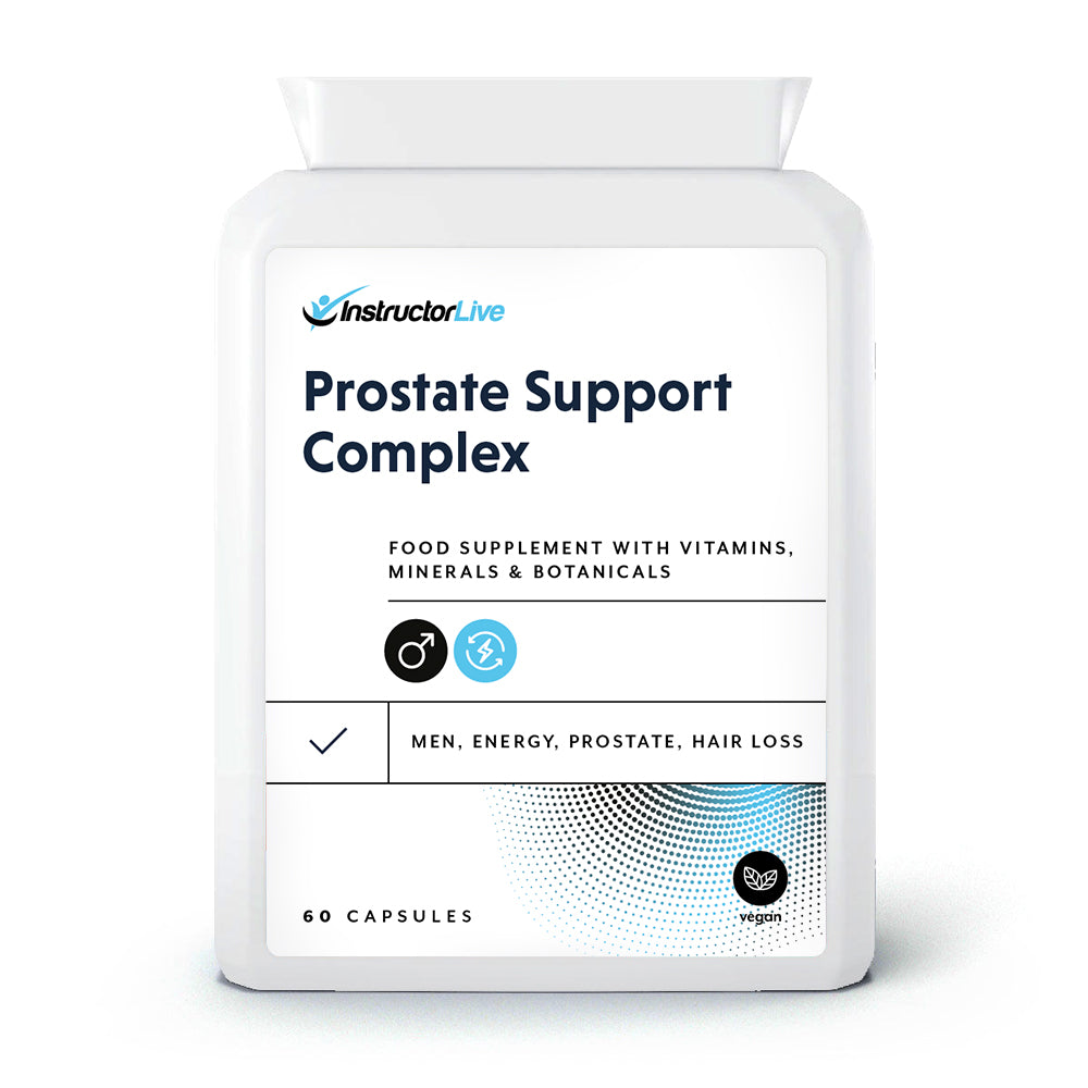 Prostate Support Complex Food Supplement - 60 Capsules