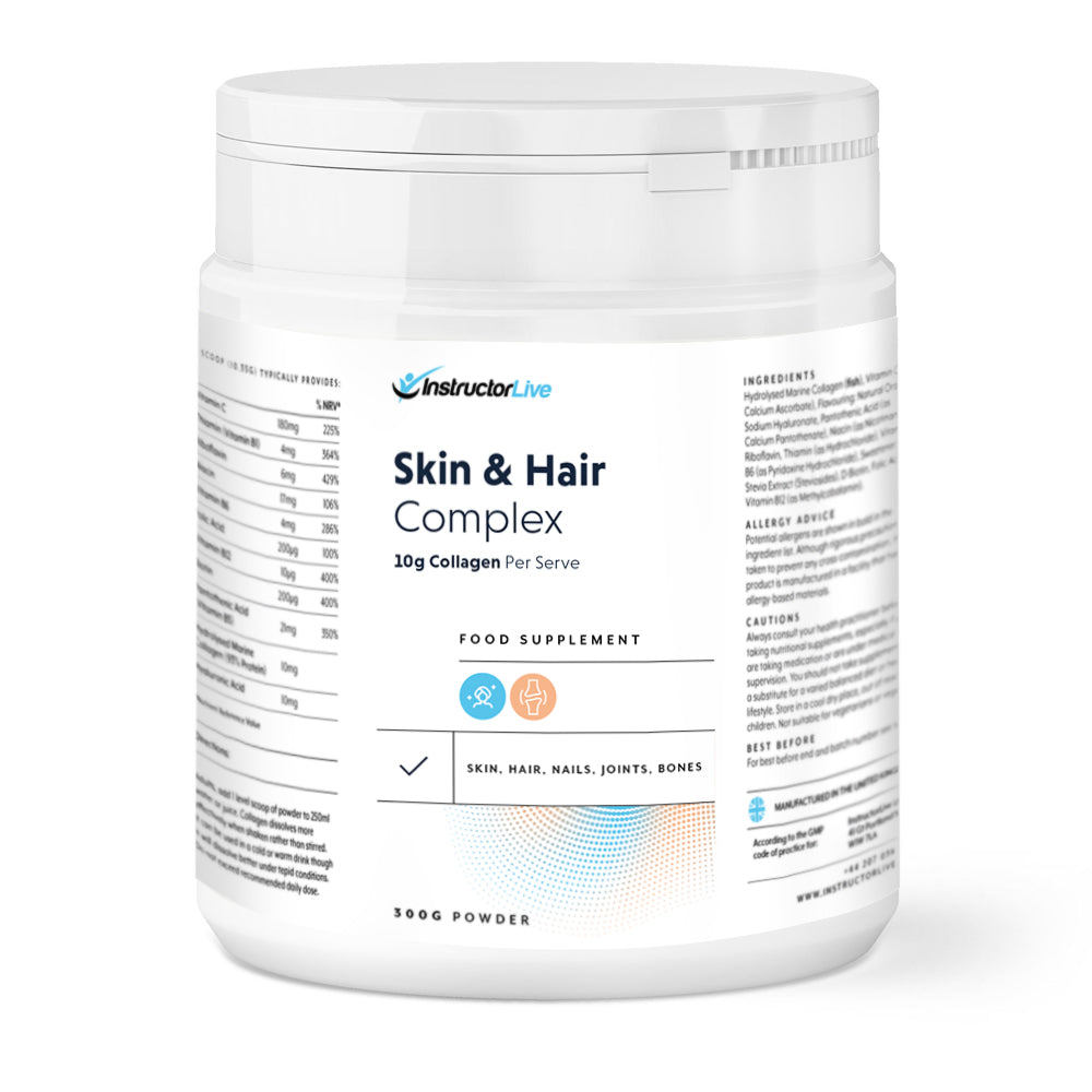 Skin and Hair Complex Food Supplement - 10 grams for serving 300 grams