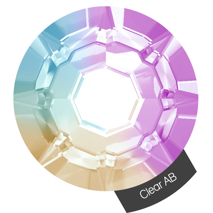 Halo Create - Cristaux Clear AB N.2 x 288