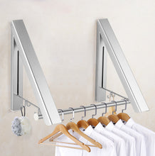 Load image into Gallery viewer, Wall Mount Clothes Hanger Rack