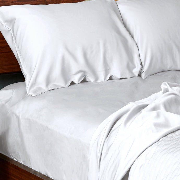 100% Bamboo Bed Sheets - Full - White