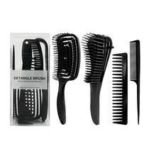 Load image into Gallery viewer, Detangle Hair Brush Set of 4- Black