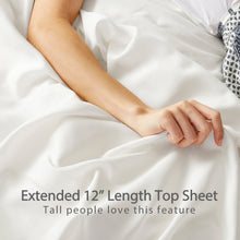 Load image into Gallery viewer, 100% Bamboo Bed Sheets - Full - White