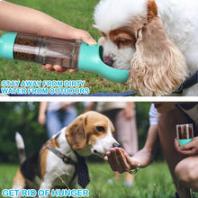 Load image into Gallery viewer, Portable Dog Water Bottle with Feeder-Green
