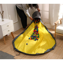 Load image into Gallery viewer, Toy Storage basket with Play Mat-Yellow