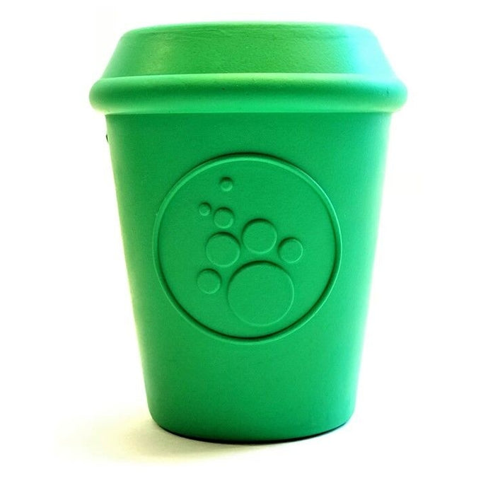 SP Large Coffee Cup Chew toy & Treat Dispenser- Green