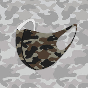 Dark Camo Aerosilver Enhanced Antibacterial Reusable&Washable Everyday Face Mask Unisex (2 masks) - DrStayClean
