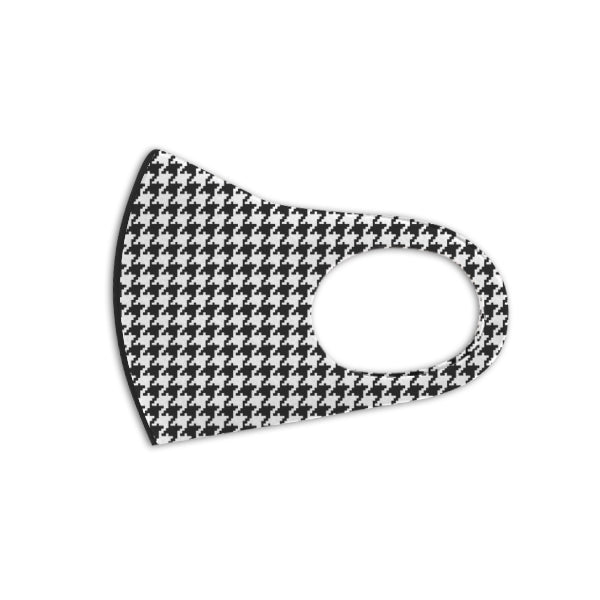 Houndstooth Aerosilver Enhanced Antibacterial Reusable&Washable Everyday Face Mask Unisex (2 masks) - DrStayClean