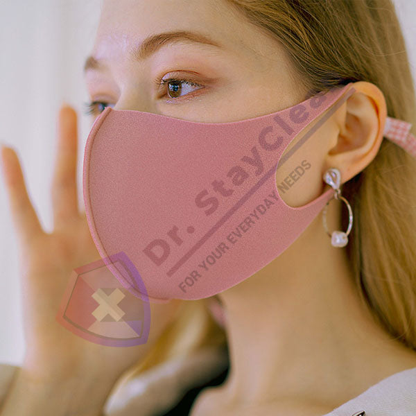 Baby Pink Aerosilver Enhanced Antibacterial Reusable&Washable Everyday Face Mask Unisex - DrStayClean