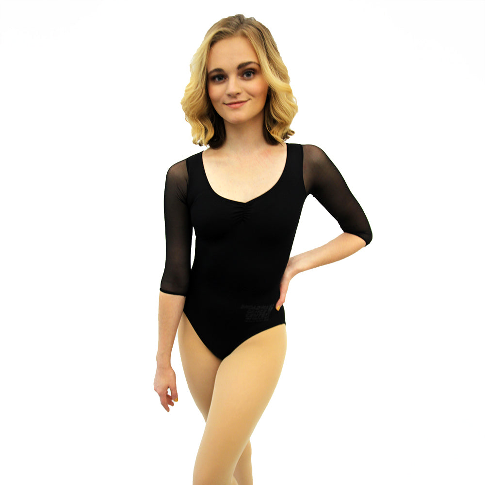 CTP Dress Code Ages 10+ 3/4 Mesh Sleeve Leotard