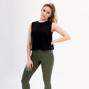 Side Band Cropped Tank
