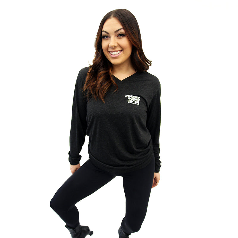 Classic Logo Long Sleeve V-Neck