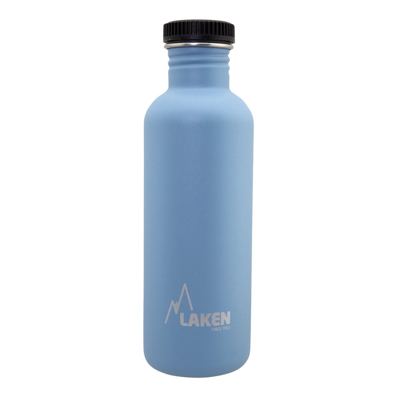 Laken Basic Steel 1L Botella en Acero Inoxidable 18/8, Tapón Negro