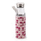 IRIS 8207-VP - Botella de Vidrio 0.55L con Funda Neopreno Color Rosa