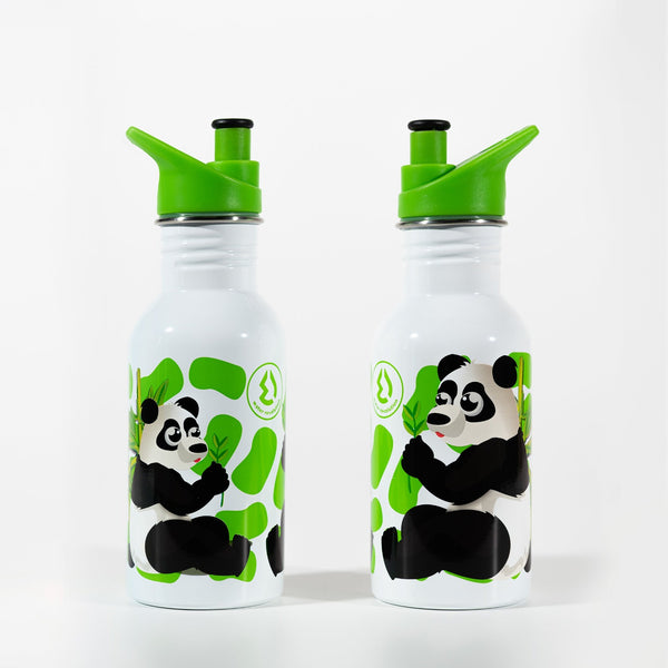 Water Revolution - Botella Infantil de Acero Inoxidable 500 ml. Sport Kids Panda