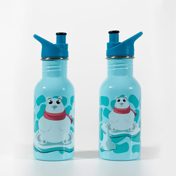Water Revolution - Botella Infantil de Acero Inoxidable 500 ml. Sport Kids Polare Bear