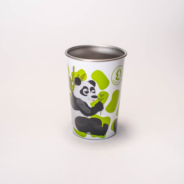 Water Revolution - Vaso de Acero Inoxidable 300 ml. Kids Panda