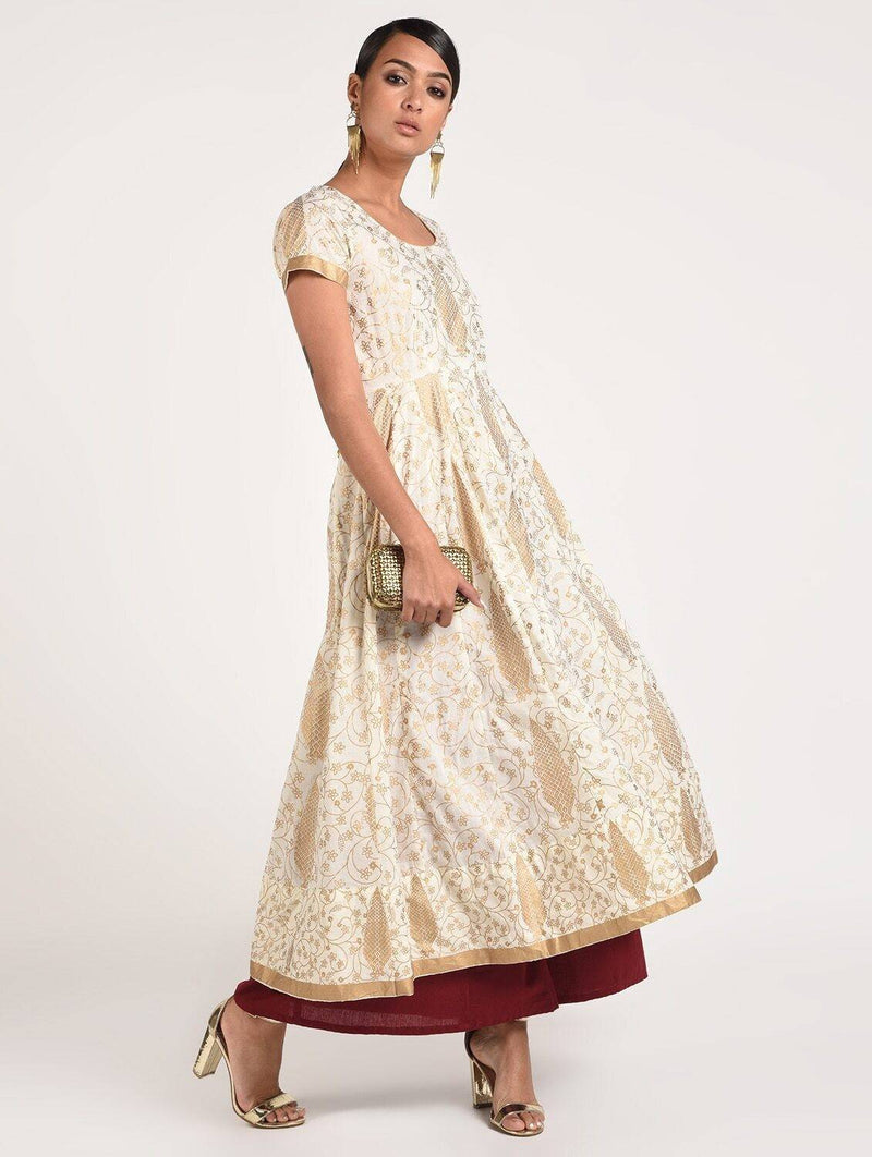 Women's Fancy Full Ghera Party Wear Anarkali Kurta