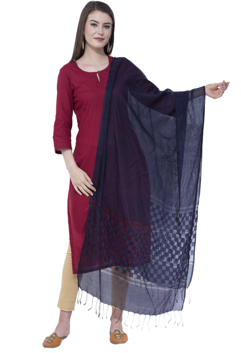 A R SILK Navy Blue Color Buta Cutting Dupattas and Chunnis