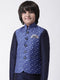 Hangup Boys Polyester Blend Printed  Multi Color Waistcoat(Kid_Nehru_90A)