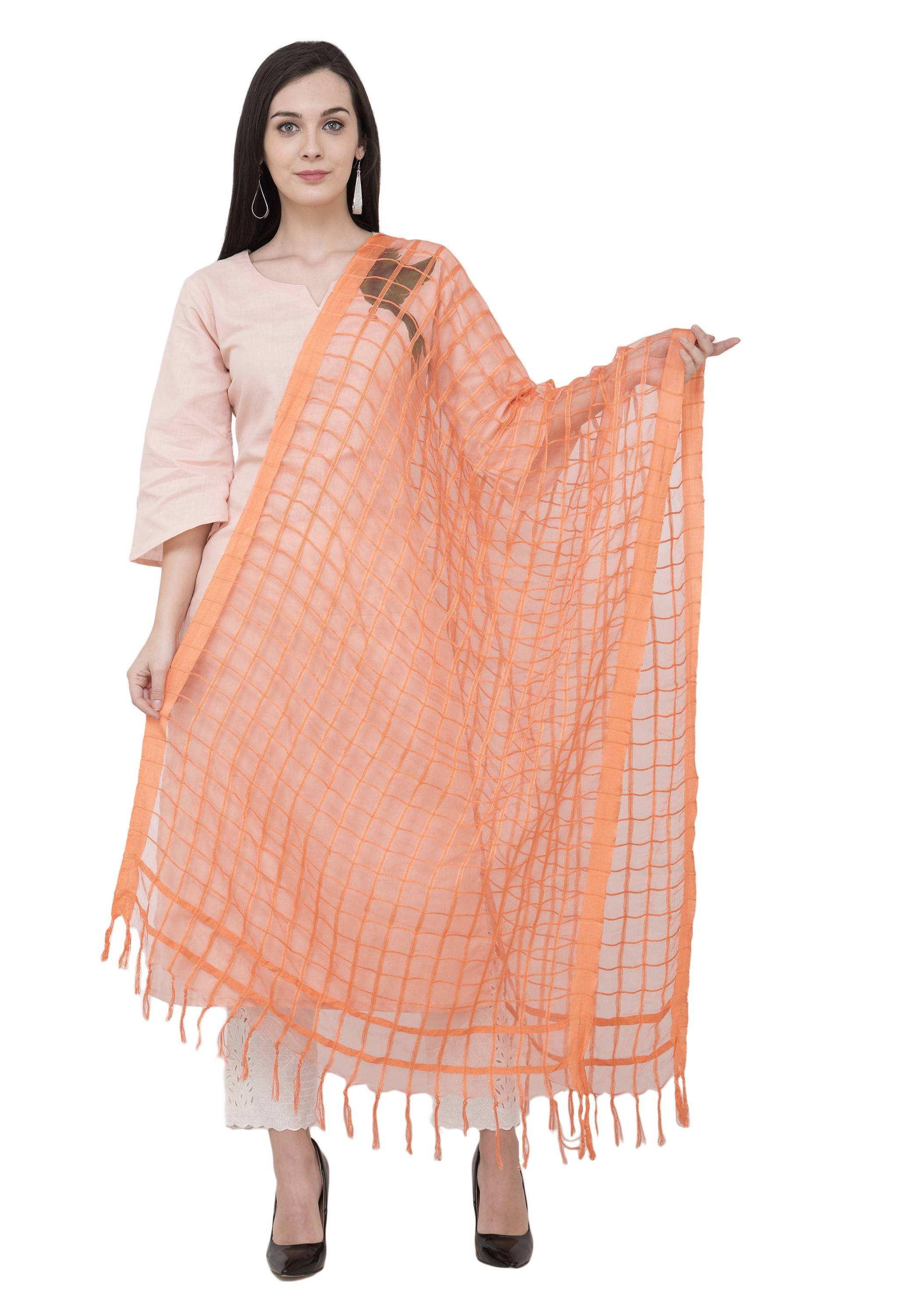 A R SILK Golden Color Fancy Silk Dupattas and Chunnis