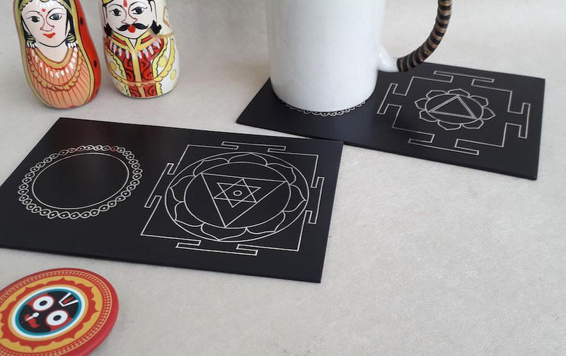 YANTRA INSPIRED COASTERS - Set of 2
