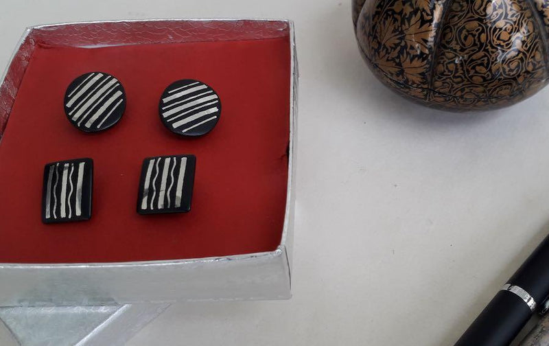 BIDRI CUFFLINKS - Formal Set - Cufflinks - indic inspirations
