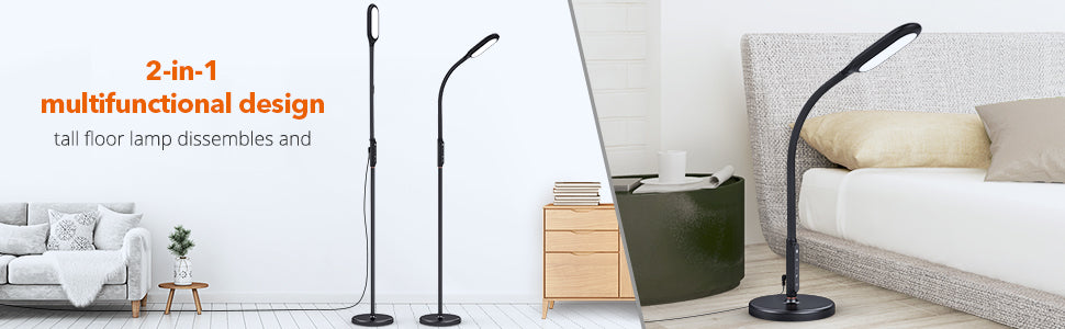 TaoTronics LED Floor Lamp Multifunctional Design