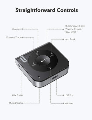 Bluetooth Receiver, AUX Adapter Wireless Audio Adapter