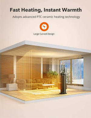 Space Heater 003 Ceramic Tower Heater with Eco Mode