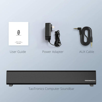Bluetooth 5.0 Computer Speaker, Wired/Wireless PC Sound Bar-TaoTronics