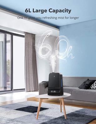 6L Cool Mist Humidifier with Humidistat LED Display