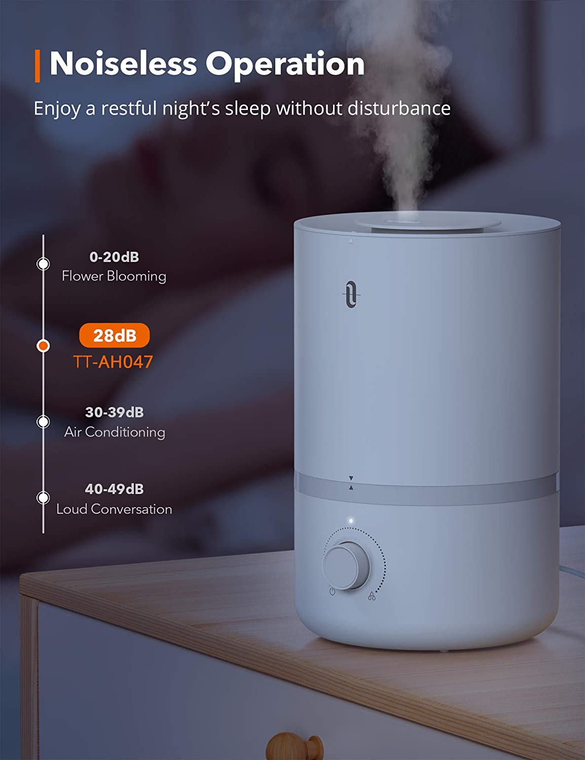 3l Cool Mist Humidifier Top Fill Humidifiers For Large Bedroom Taotronics