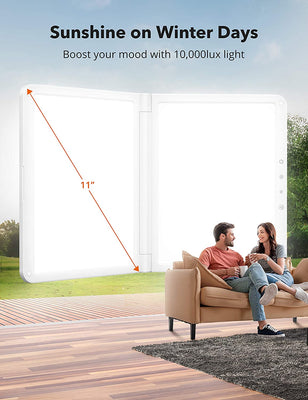 Light Therapy Lamp 18, UV-Free 10000Lux LED Therapy Light