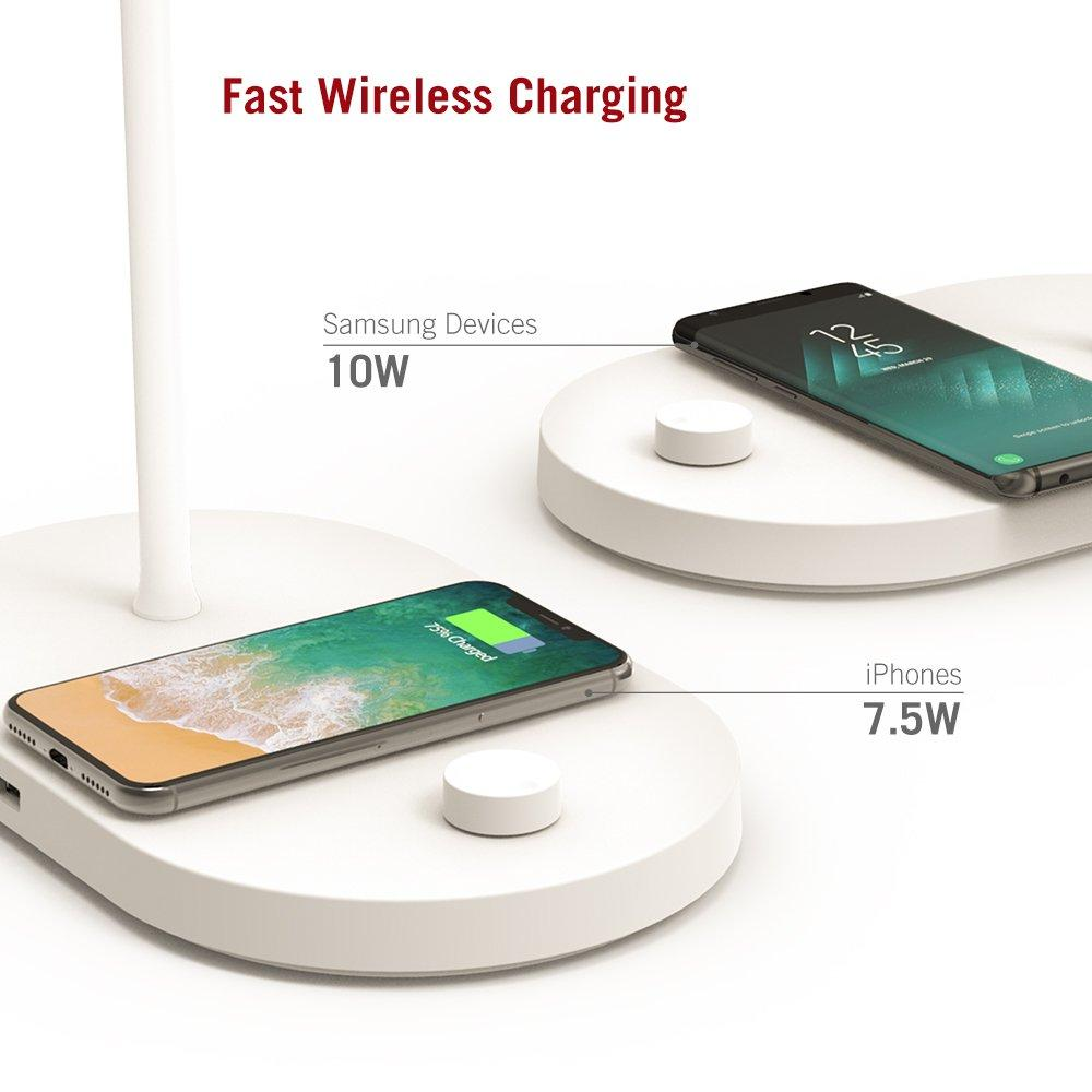 TaoTronics Bedside Lamp with Fast Wireless Charger CL009 Gallery 2
