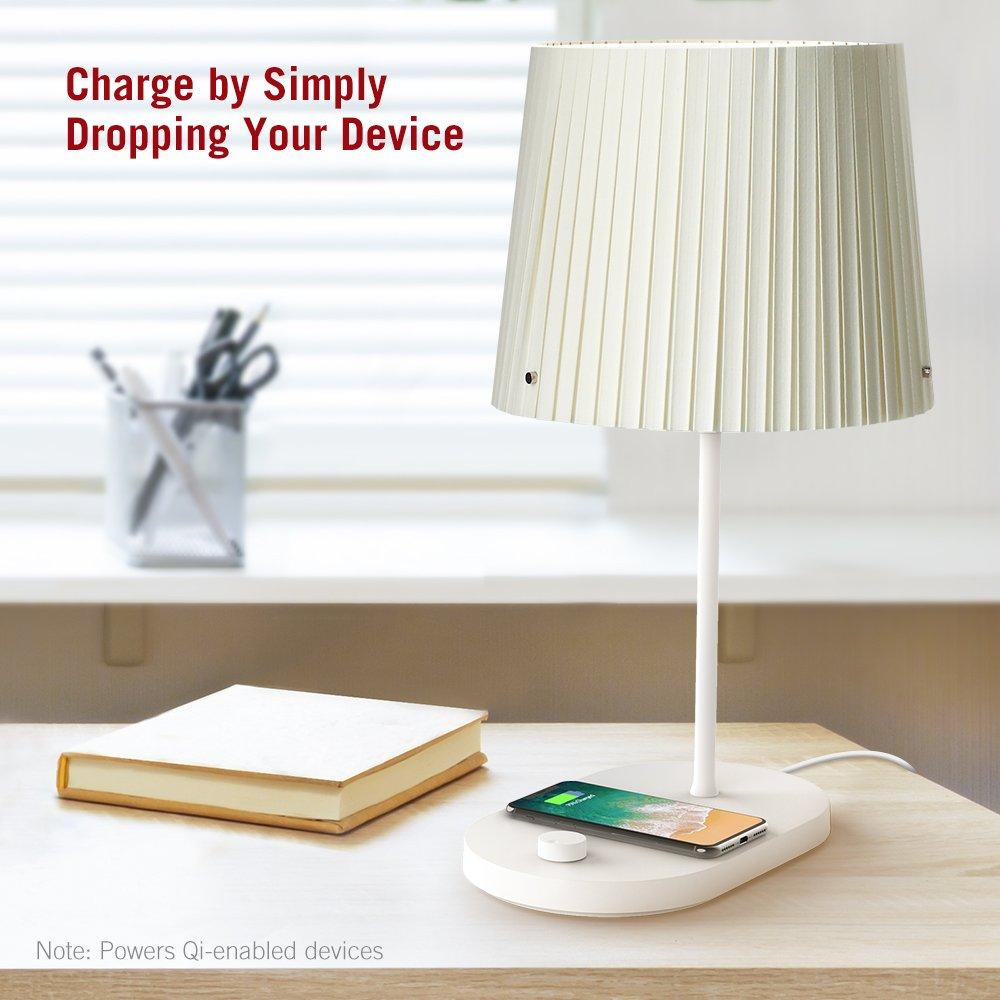 TaoTronics Bedside Lamp with Fast Wireless Charger CL009 Gallery 7