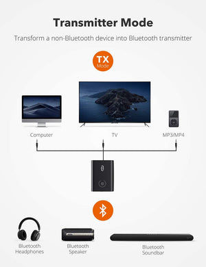 Bluetooth 5.0 Transmitter and Receiver, Wireless 3.5mm Adapter-TaoTronics