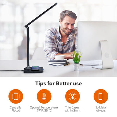 TaoTronics Desk Lamp with Qi-Enabled Wireless Fast Charger DL038 Gallery 8